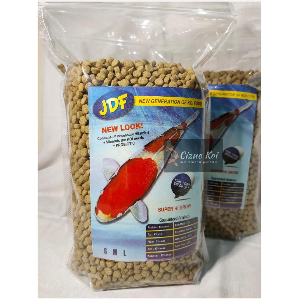 Pakan Ikan Koi / Pelet Koi JDF Super Hi Grow 1 kg