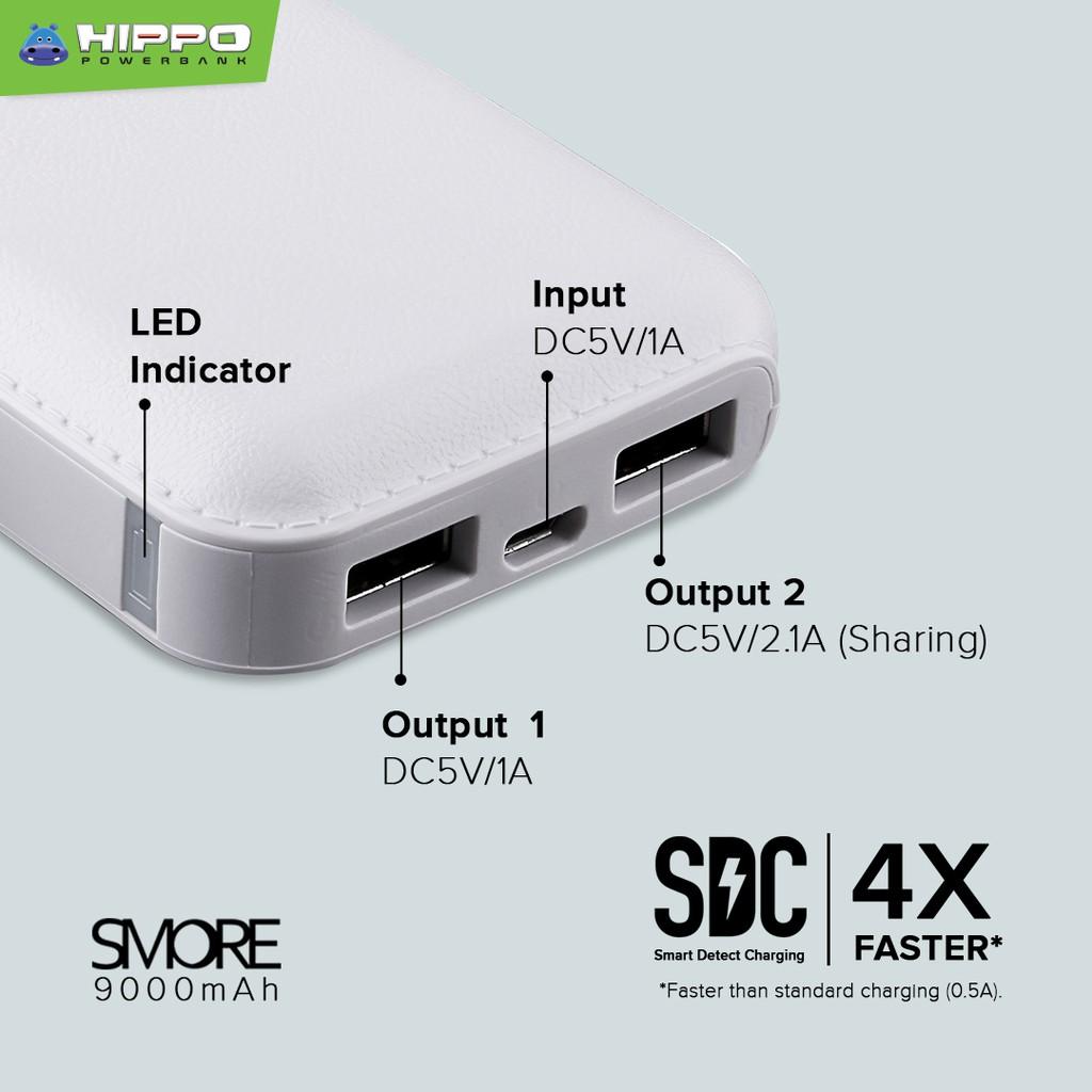 PowerBank Hippo Smore 9000mAh - Simple Pack