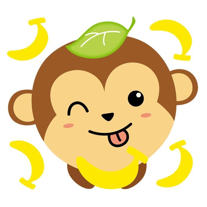 Gambar Monyet Dan Anaknya Animasi Removable Beralih Stiker Monyet Kecil Dan Pisang Ruang Tamu Kartun Anak Anak T Shopee Indonesia