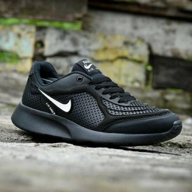 Sepatu Nike Airmax Black Sekolah Kuliah Murah Running Jogging Sneakers  Casual  4c6d237ef7