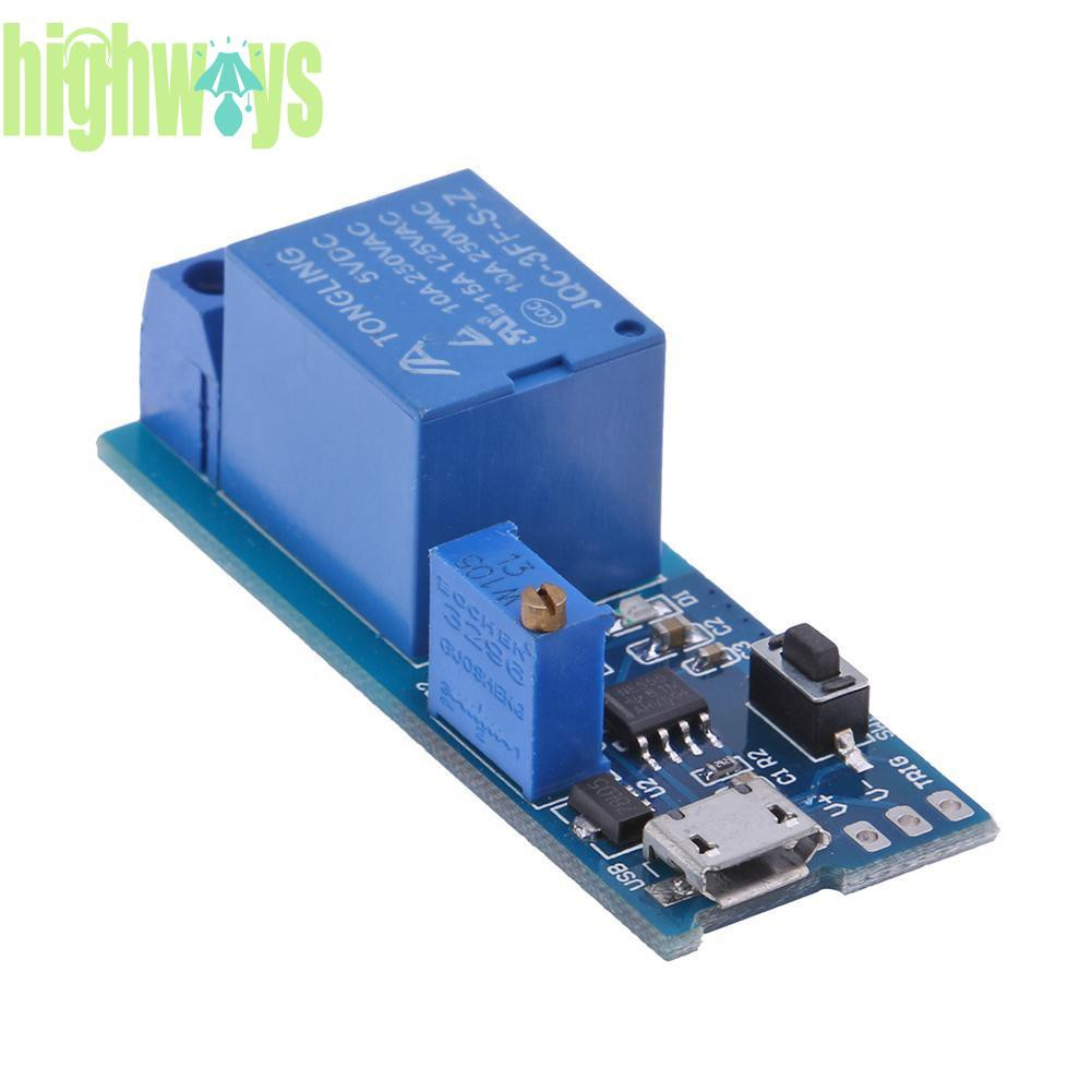 DC12V//Micro USB 5-30V Trigger Cycle Delay Timer Control Relay Switch Module