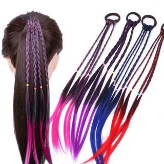 Wig Rambut Ekstensi Model Kepang Warna-Warni Untuk Wanita thumbnail