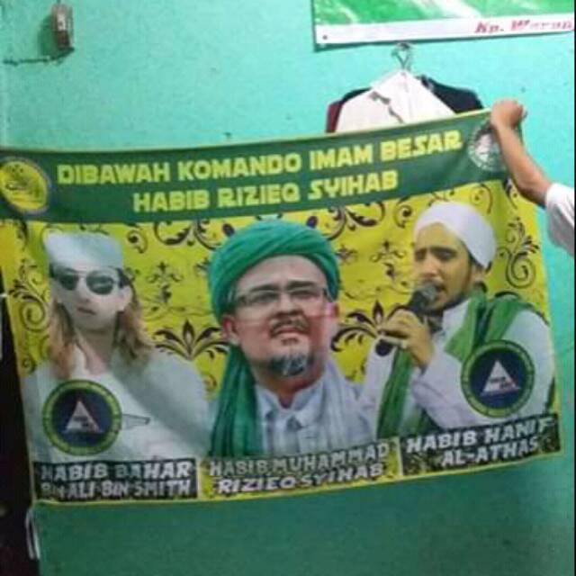 Bendera Habib Rizieq Syihab Phb Pecinta Habib Bahar Shopee Indonesia