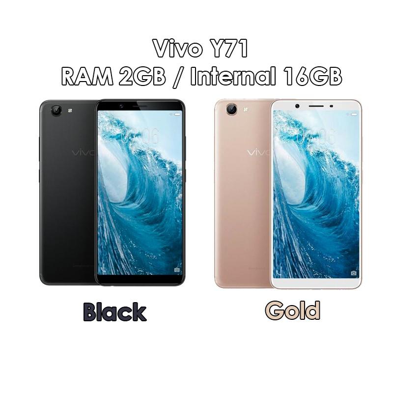Vivo Y71 - RAM 2GB ROM 16GB (2/16) - Black Gold - Baru NEW - Resmi ...