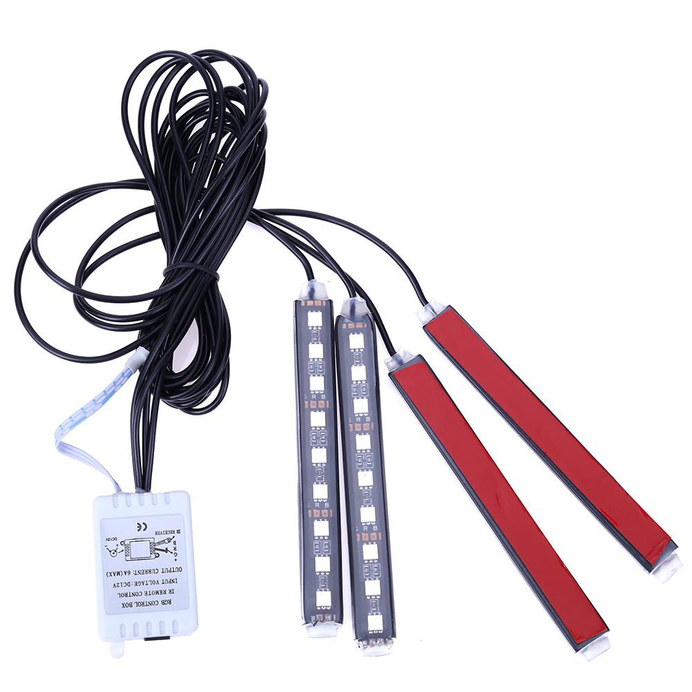 4pcs Lampu Led Strip Rgb Warna Warni Untuk Dekorasi Mobil Skrt Kolong Remote Dashboard 16 Drl Shopee Indonesia
