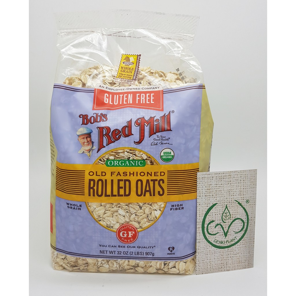 Bob's Red Mill Gluten Free Organic Old Fashioned Rolled Oats - 907 Gr | Shopee Indonesia