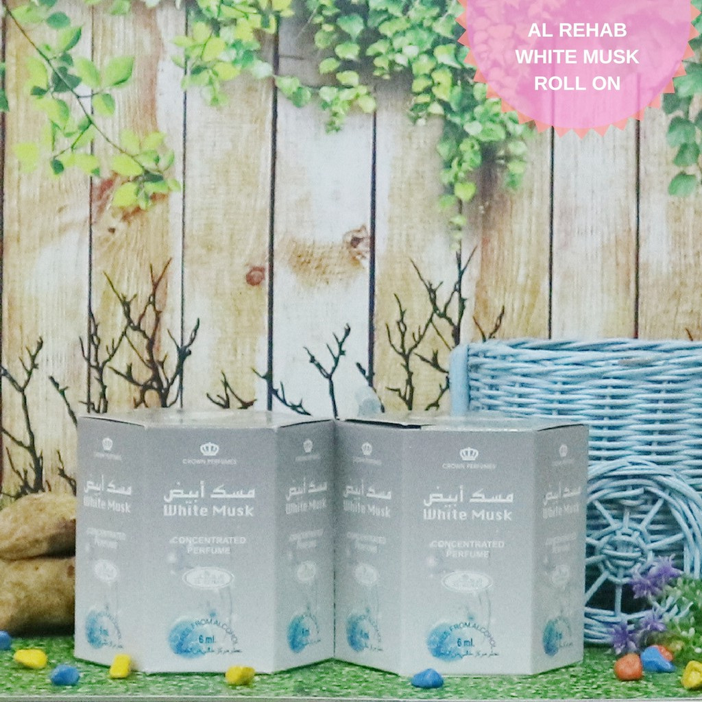 Al Rehab White Musk 6ml Alrehab Parfum Arab Minyak Wangi Non Alkohol Sholat Shopee Indonesia