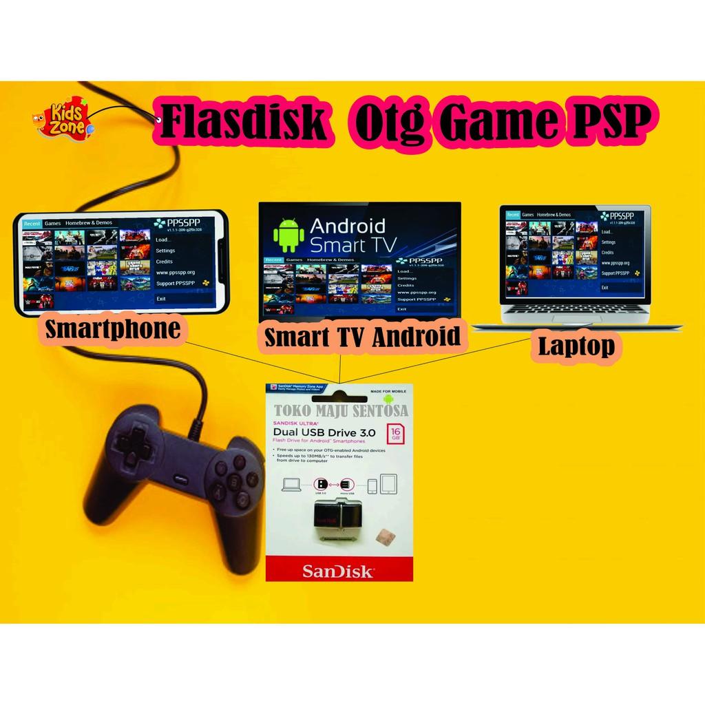 Flasdisk Sandisk Otg 16 Gb Bonus Super 60 Game Psp Shopee Indonesia