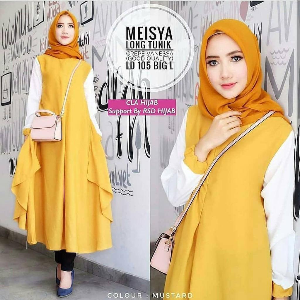 Shasa tunik   Long tunik   Baju atasan wanita   baju muslim   fashion muslim   f3c40a9bfa