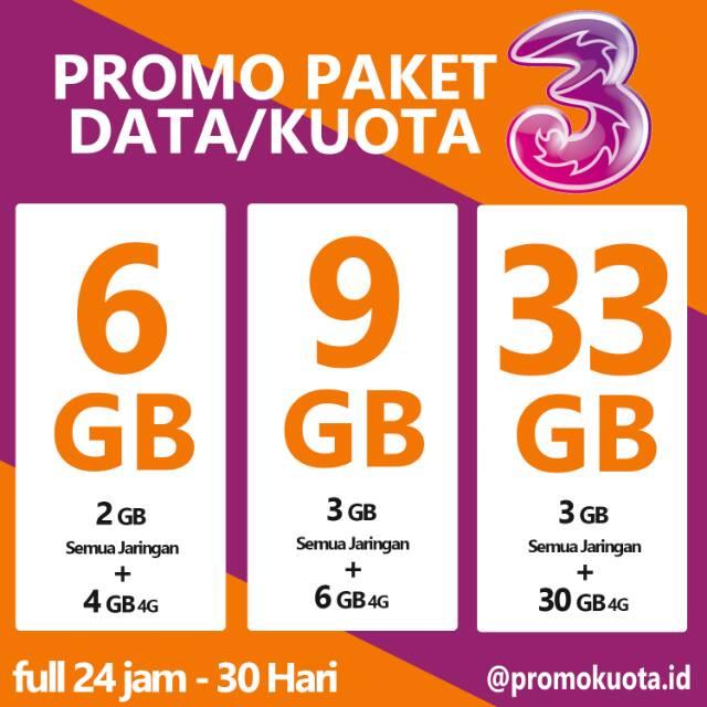 PROMO 3 TRI PAKET DATA KUOTA MURAH | Shopee Indonesia