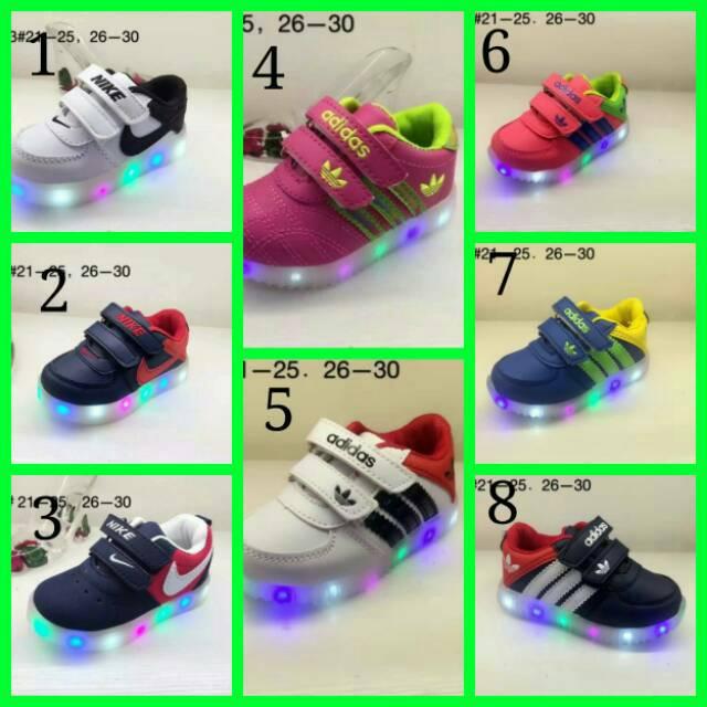 Sepatu anak import abstrak kids led (bisa nyala) 26-30  f7968878b5