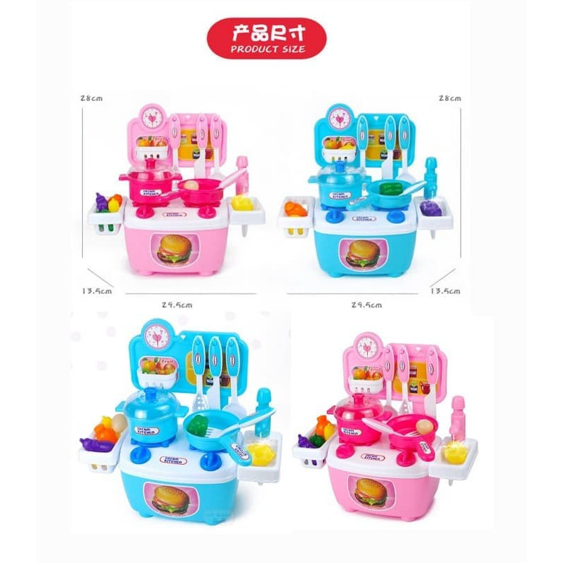 Mainan Anak Diy Dream Kitchen Set Mainan Masak Masakan Anak With Box Shopee Indonesia