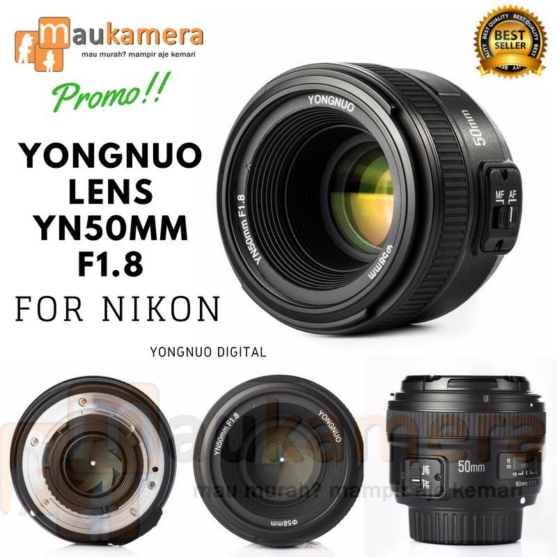 Lensa Fix Nikon 50mm f1.8 YongNuo Digital  45020a5cf2