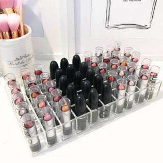Acrylic tempat lipstik 50kotak datar , akrilik display lipstik thumbnail