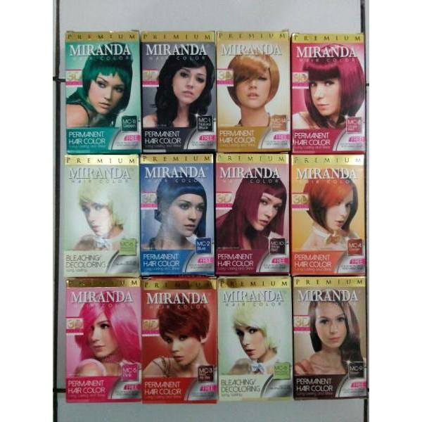 Miranda Hair Color Cat Rambut Miranda Semir Rambut Miranda