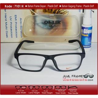 Frame Kacamata Minus Lensa Photocromic Photogrey - Kacamata Hitam Pria  Wanita Korea Kotak Korea 43ec47b187
