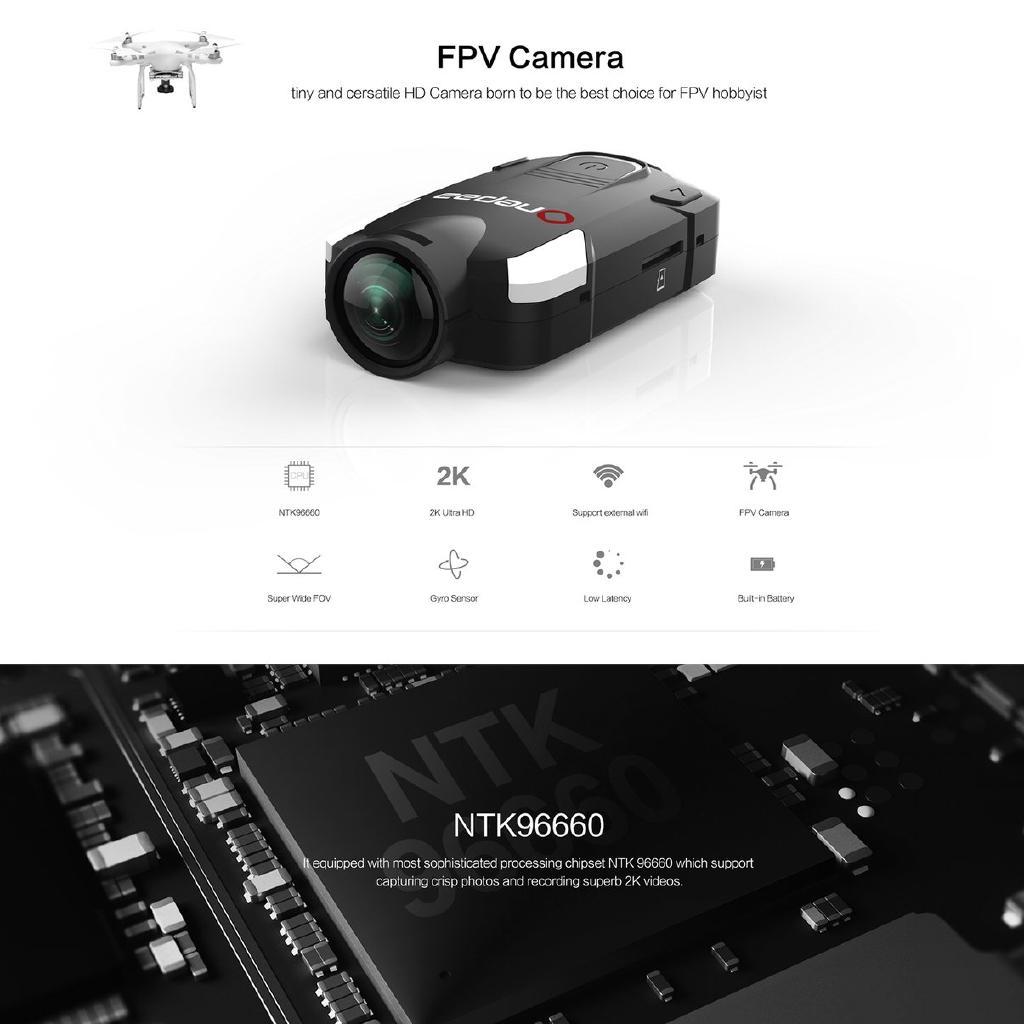 [Bayar Di Tempat]OnePaa X2000 NTK96660 Action Camera Sport DV 2K Ultra HD  FPV Camera Built