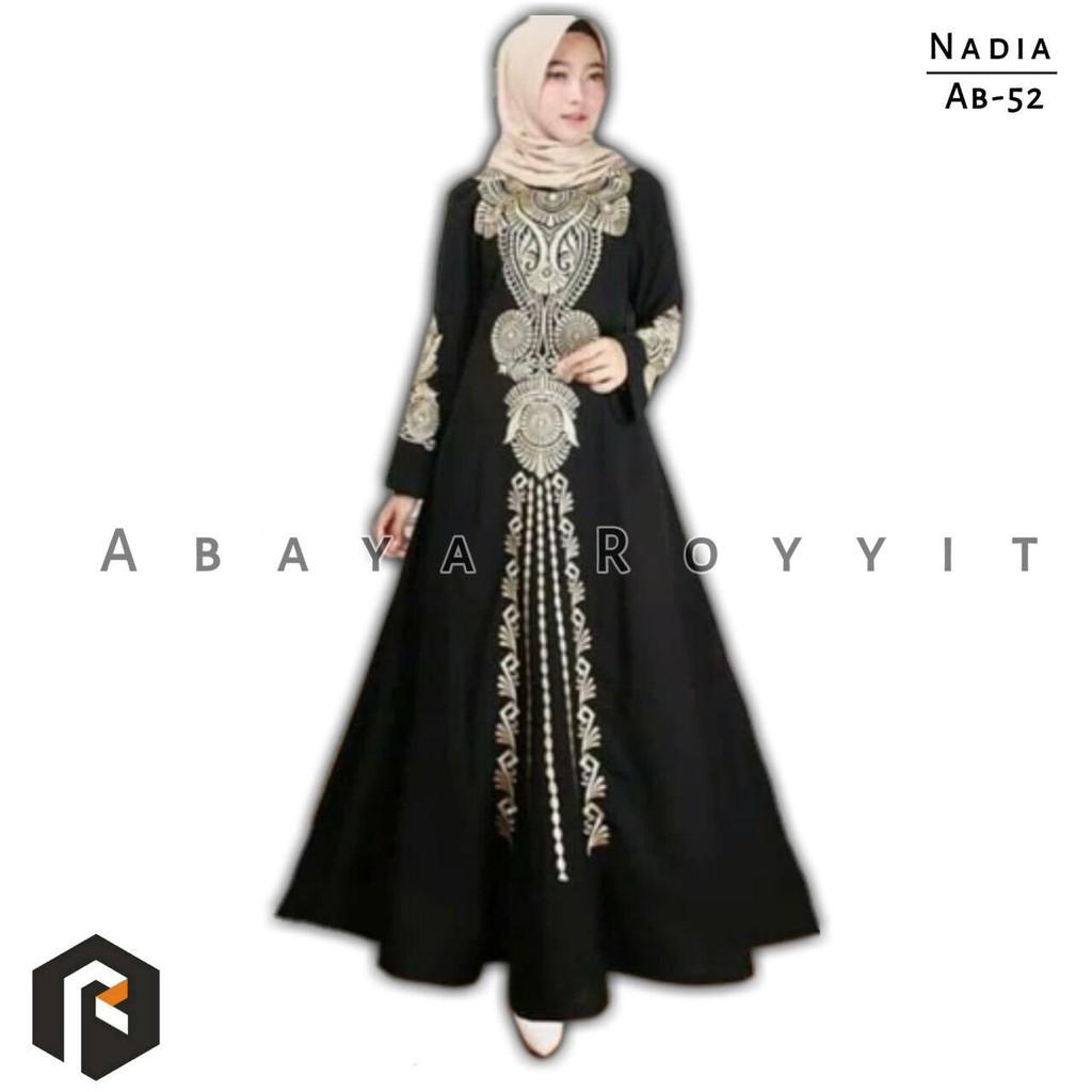 Gamis Abaya Arabian Hitam Glamour Best Seller