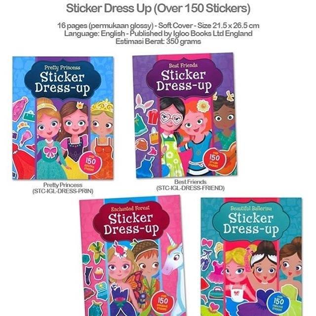 Buku Stiker Dress Up