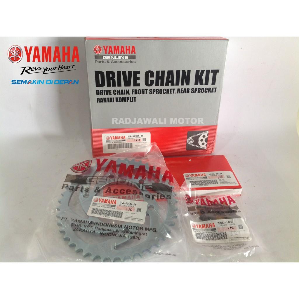Gir Set Ger Jupiter Z1 Did Gold Chain Kit Yamaha Oem New Motor Rantai Hd Gg 428 130l Otomotif Shopee Indonesia