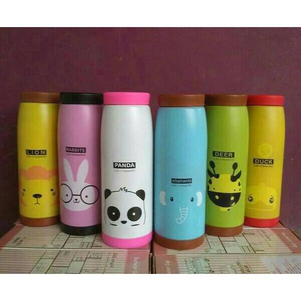Botol Termos Karakter - Botol Minum Mini Tumbler 400 Ml keramik   Shopee Indonesia