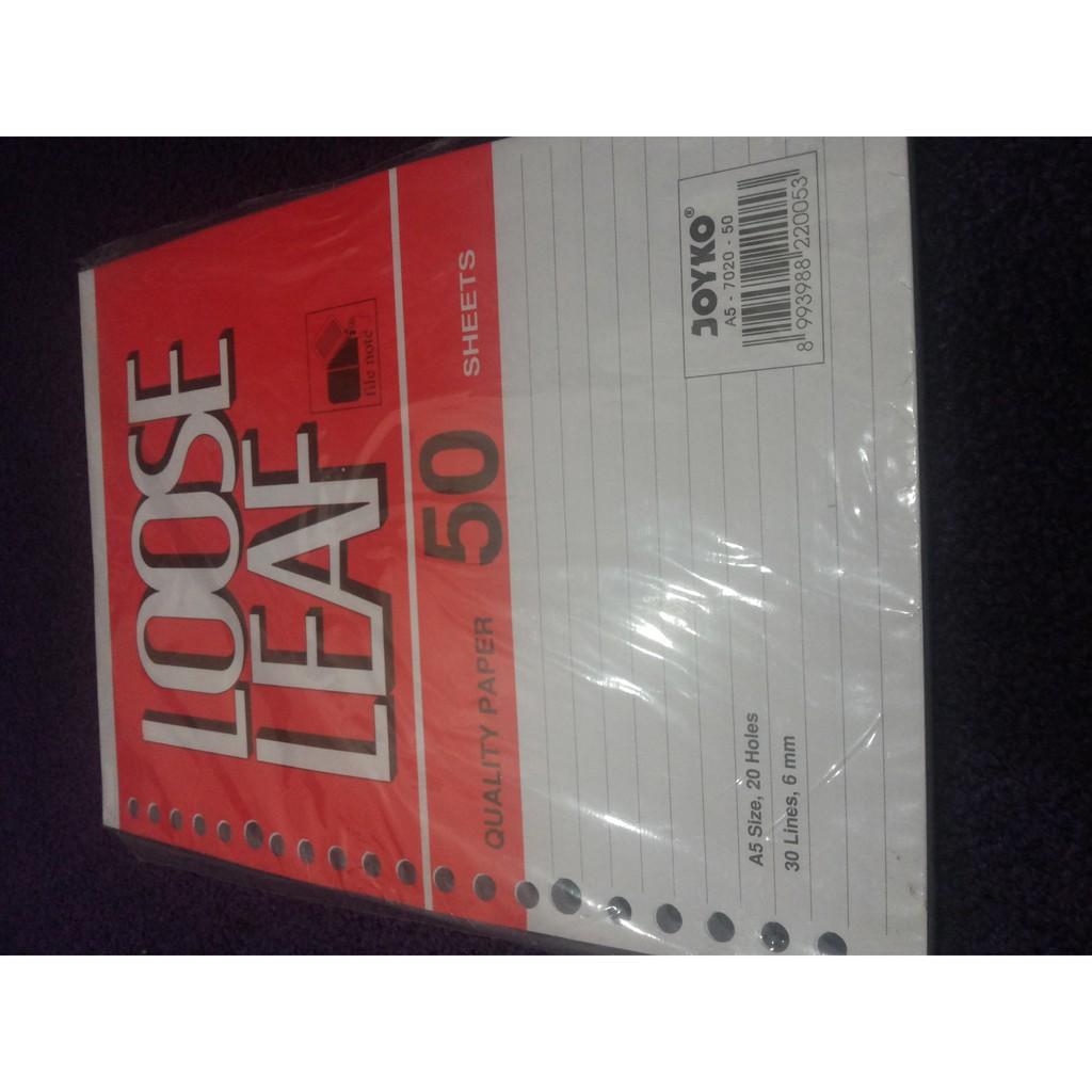 Terlaris Isi Kertas File Kecil Joyko A5 50 Refill Loose Leaf Murah B5 50lbr Grosir Shopee Indonesia