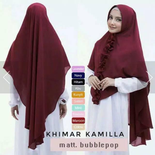 Jilbab Khimar Jumbo Kamilla Khimar Kamilla Jumbo Rempel Kamilla Khimar Hijab Jilbab Syar I