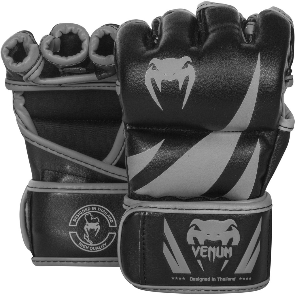 Without Thumb Venum Challenger MMA Gloves Black//Grey