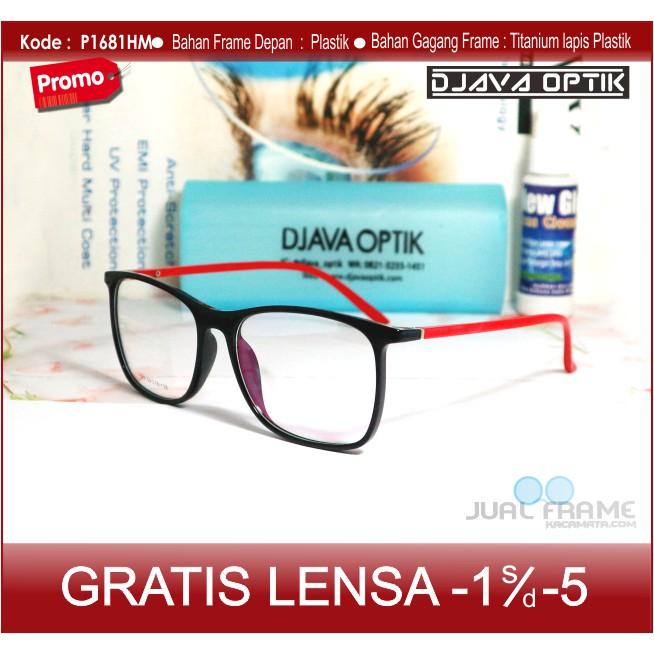 Kacamata Kotak Casual + Lensa Minus Baca - Frame Kacamata Korea Pria Cewek  Wanita Gaya  e45b9f6463