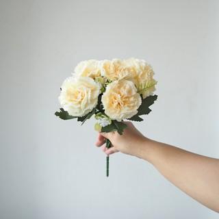 bunga carnation warna pastel / artificial pastel short