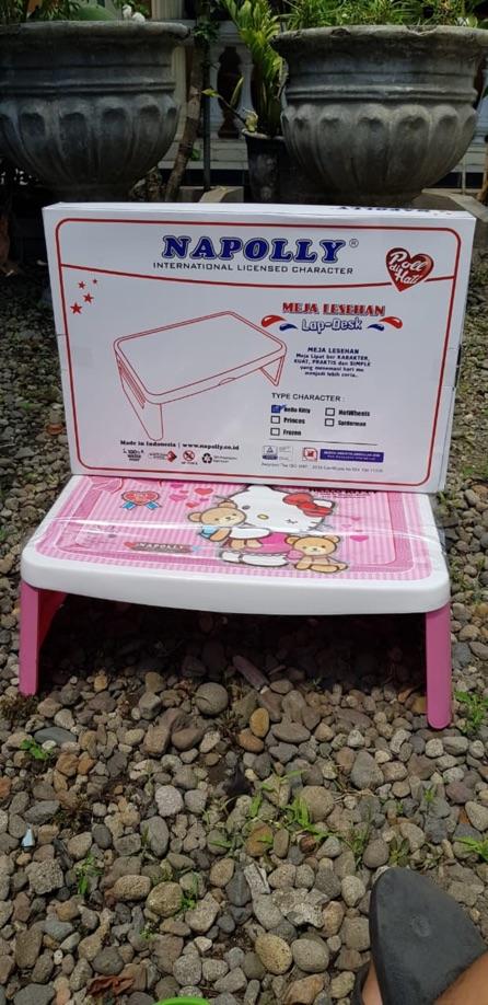 Meja lipat, lapdesk plastik Napolly Karakter Hellokitty | Shopee Indonesia
