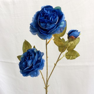 artificial flower bunga peony autumn 3 cabang palsu