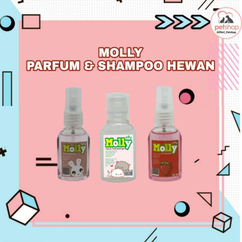 Parfum dan Shampoo Kucing Anjing Merk Molly Kemasan Ekonomis
