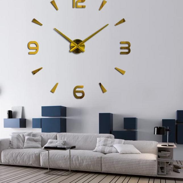 Jam Dinding Besar Diy 30 60cm Diameter Elet00663 Brown - penjualan ... 91316f55f8