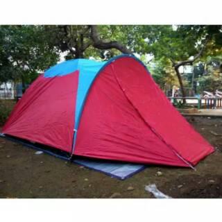 Tenda Dome Double Layer 4 Orang Tenda Camping Hiking Kemping berburu piknik Travelling gunung