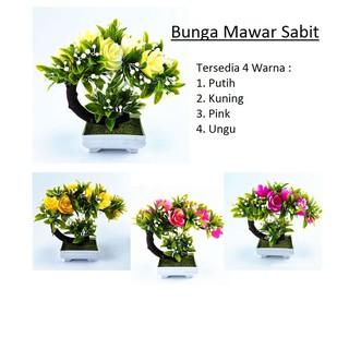 Bunga Mawar Sabit Pajangan Tanaman Plastik Shopee Indonesia