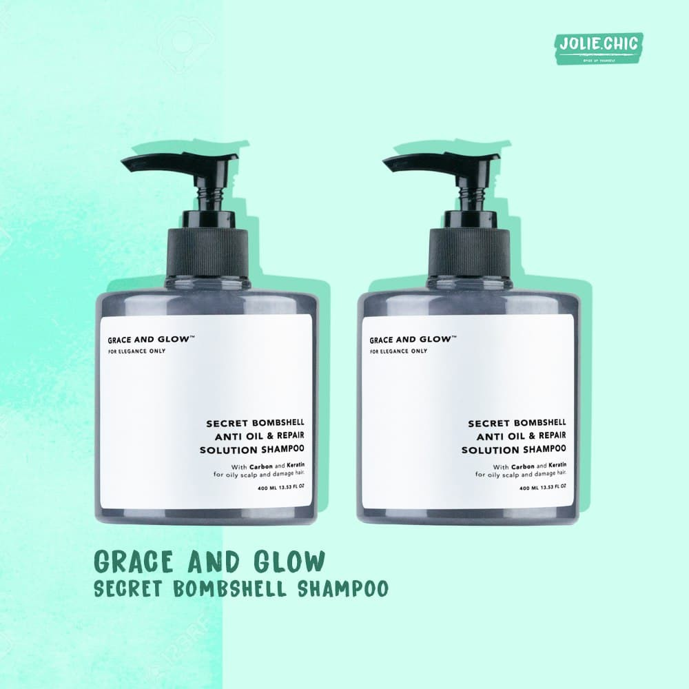 Grace & Glow Secret Bombshell Anti Oil and Repair Solution Shampoo With Carbon and Keratin