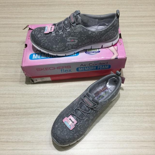 Sepatu Skechers Go Flex Walk Women Import Premium Black Pink ... 37b0425337