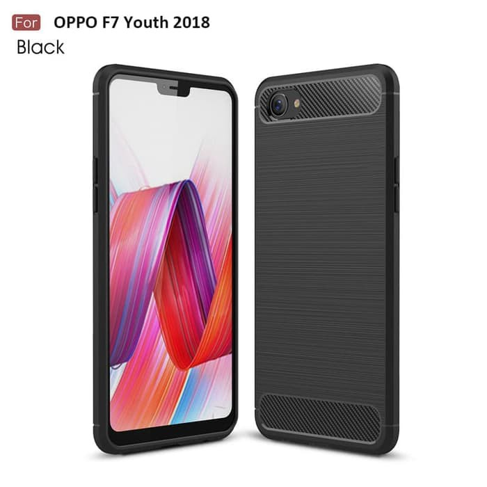 info for 4af2d 2fee6 Limited! Carbon Fiber Premium Case Oppo F7 Youth 2018 Soft TPU Cover