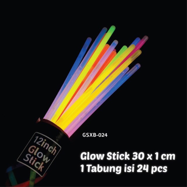 GLOW STICK 100 pcs - STIK NYALA 100 pcs - stick fosfor - glow in the dark stik - gelang fosfor | Shopee Indonesia