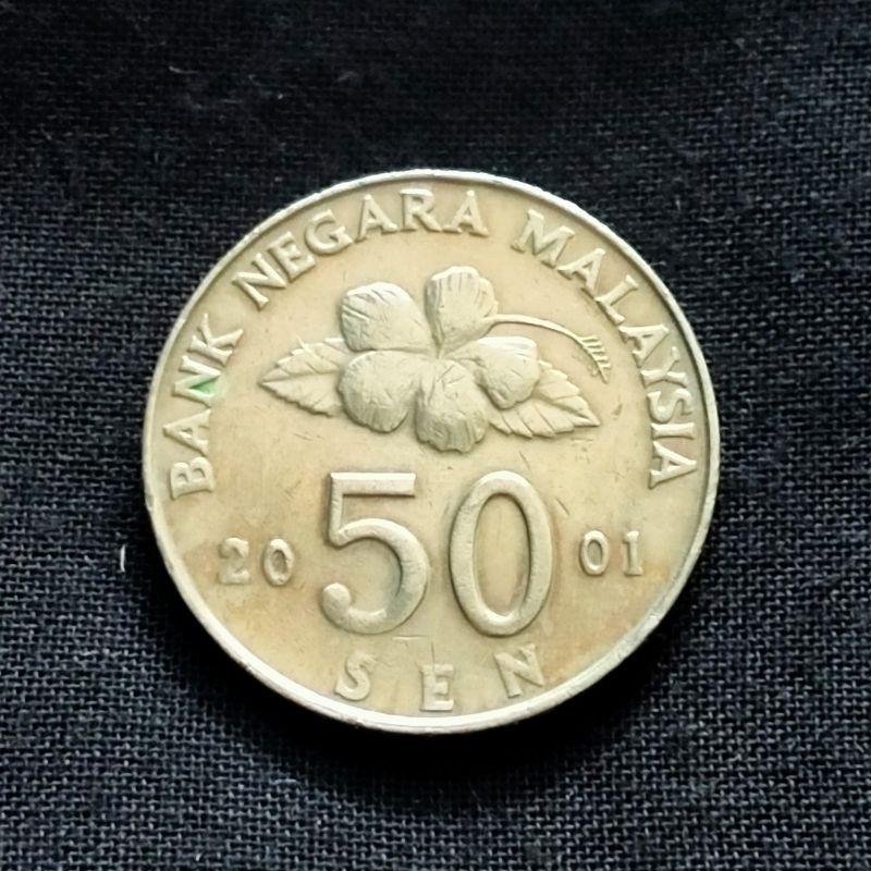 Koin asing Malaysia 50 sen 2001