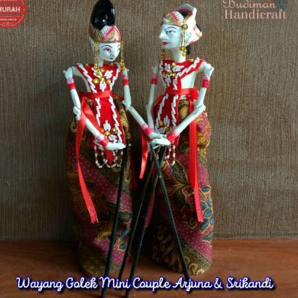 ー Jkq Wayang Golek Mini Couple Arjuna Srikandi Uk 30cm Shopee Indonesia