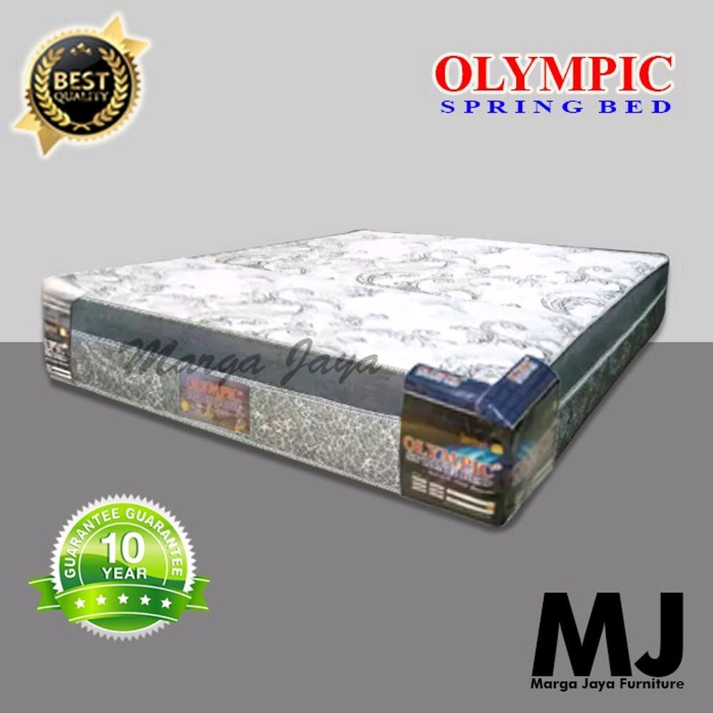 Kasur Spring Bed Olympic Tebal 33 Cm 180 X 200 Kain 3 D Shopee Indonesia Harga kasur spring bed kecil