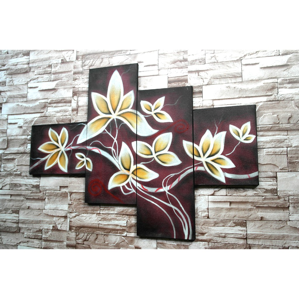 Lukisan Bunga CB6P Hiasan Dinding Dekorasi Rumah