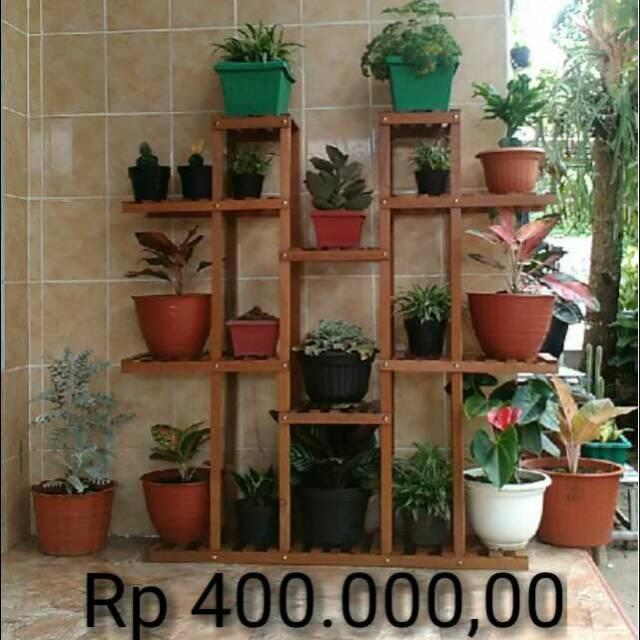 Rak Bunga Kayu Dekorasitingkat Shopee Indonesia
