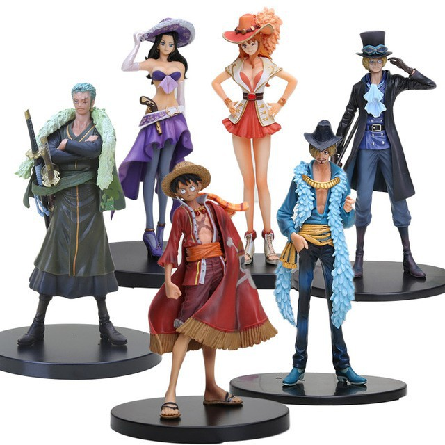 Action Figure Sanji Robin Luffy Sabo Nami One Piece Ukuran 11 18cm Zoro Anniversary 15th Shopee Indonesia