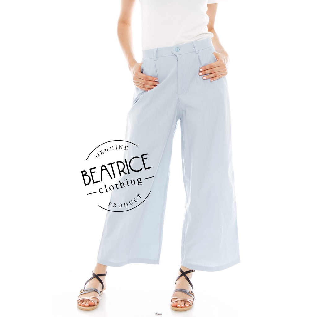 Beatrice Clothing Pencil Pants Basic In Navy Shopee Indonesia Alila Culottes Benji