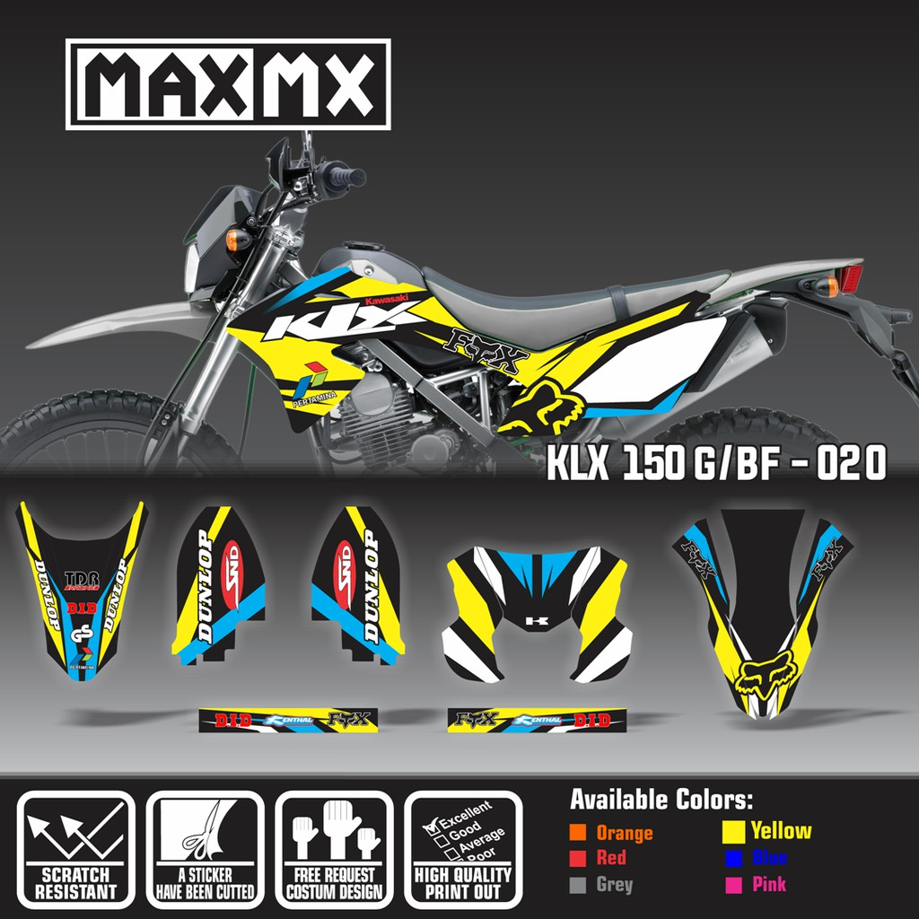 Decal stiker klx 150 bf dekal sticker striping custom full body klx 150 g bf 047