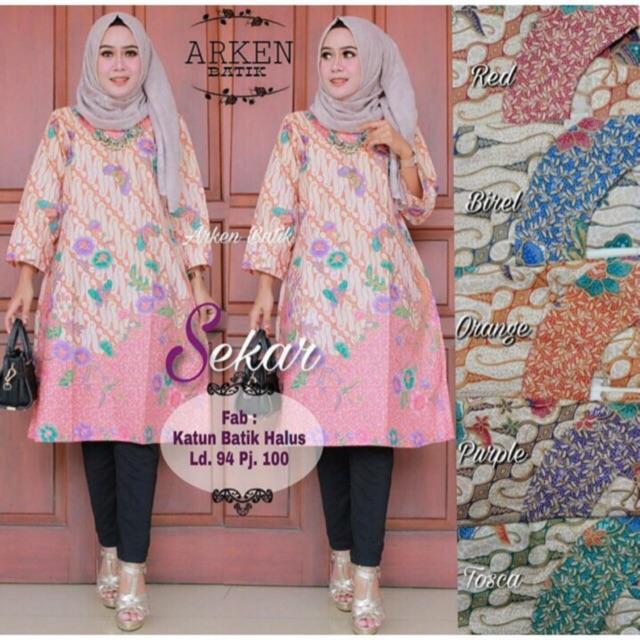 Perbandingan harga TUNIK BATIK CANTIK ! Dress Batik Kerja