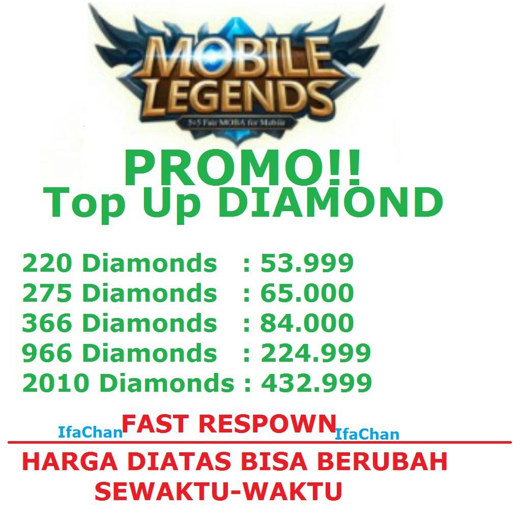 Promo Isi Berlian Game Promo Murah Via Id Dan Nickname Shopee Indonesia